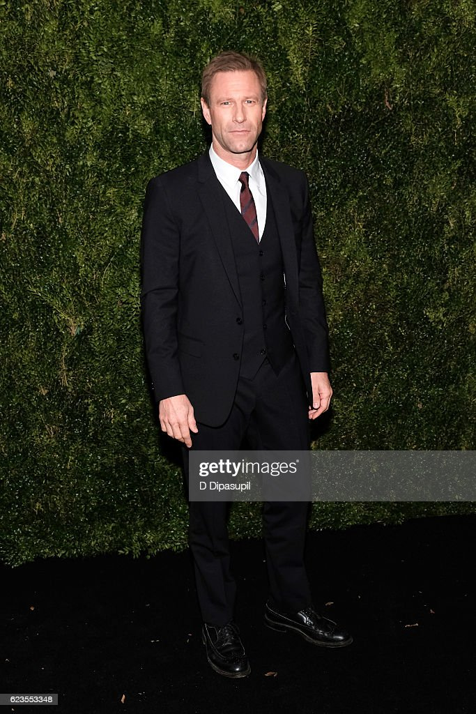 Aaron Eckhart attends the 2016 Museum of Modern Art Film Benefit presented by Chanel - A Tribute to Tom Hanks at Museum of Modern Art on November 15, 2016 in New York City.