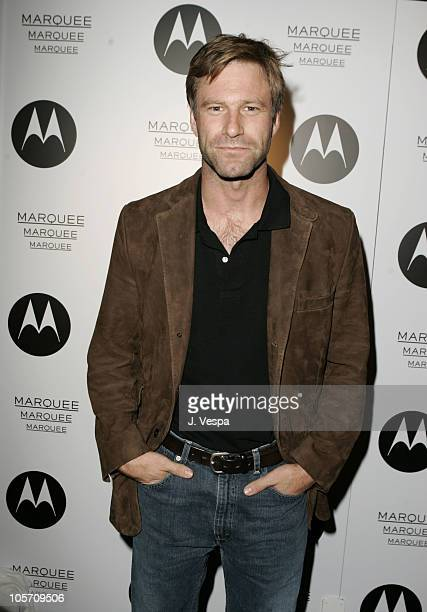 Aaron Eckhart during 2005 Toronto Film Festival Motorola/Marquee at Lobby Party September 8 2005 at Lobby in Toronto Canada