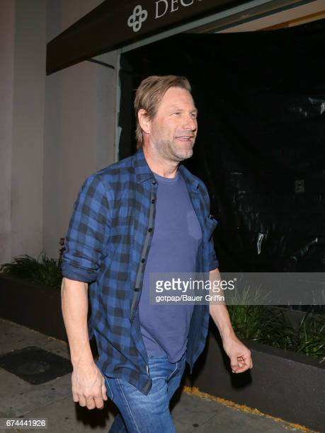 Aaron Eckhart is seen on April 27 2017 in Los Angeles California