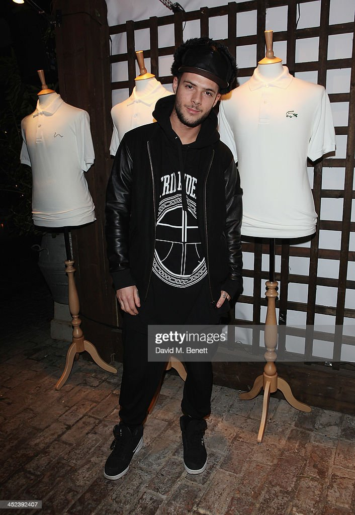 Aaron Frew attends the Peter Saville for Lacoste launch at Shoreditch House on November 28, 2013 in London, England.