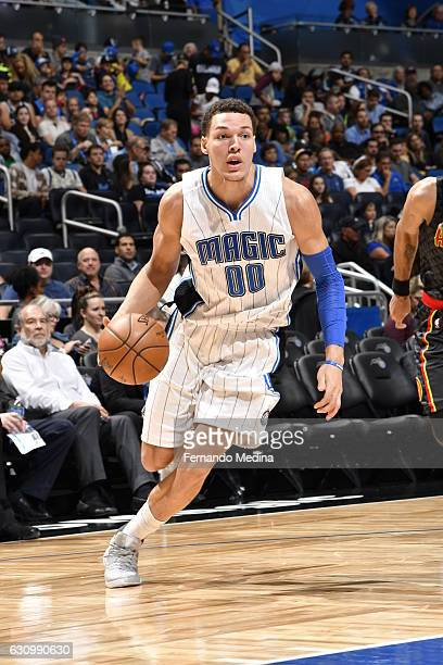 Aaron Gordon of the Orlando Magic handles the ball against the Atlanta Hawks on January 4 2017 at Amway Center in Orlando Florida NOTE TO USER User...