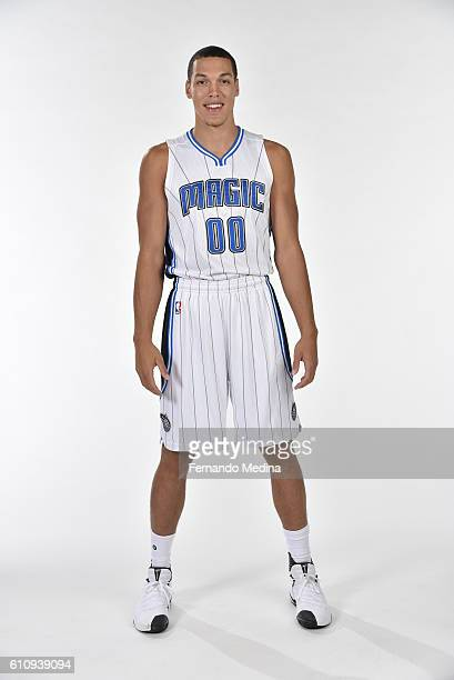 Aaron Gordon of the Orlando Magic poses for a portrait during NBA Media Day on September 26 2016 at Amway Center in Orlando Florida NOTE TO USER User...