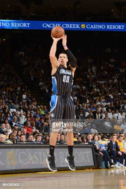 Aaron Gordon of the Orlando Magic shoots the ball during a game against the Golden State Warriors on March 16 2017 at ORACLE Arena in Oakland...