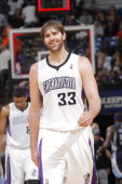 Aaron Gray of the Sacramento Kings in a game against the Memphis Grizzlies on January 29 2014 at Sleep Train Arena in Sacramento California NOTE TO...