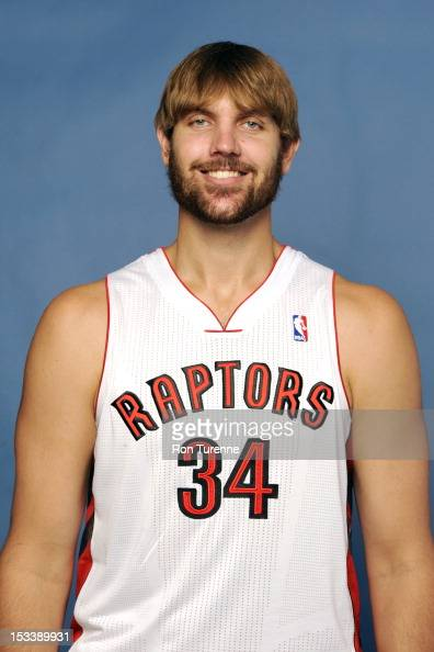 Aaron Gray of the Toronto Raptors poses for a portrait during a Media Day on October 1 2012 in Toronto Canada NOTE TO USER User expressly...