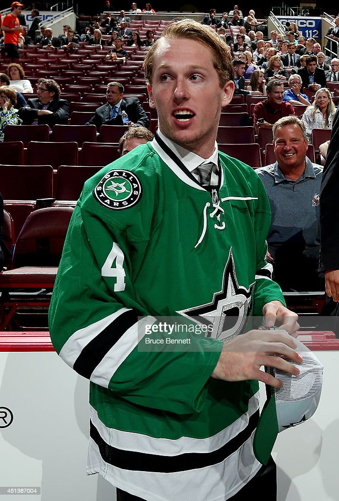 Aaron Haydon meets his team after being drafted #154 by the Dallas Stars on Day Two of the 2014 NHL Draft at the Wells Fargo Center on June 28, 2014 in Philadelphia, Pennsylvania.