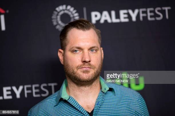Aaron Helbing attends PaleyFest LA at the Dolby Theatre on March 18 2017 in the Hollywood section of Los Angeles California / AFP PHOTO / DAVID MCNEW