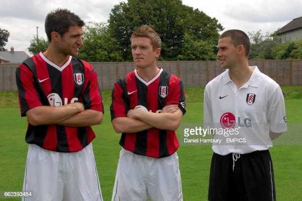 Aaron Hughes Steven Davis and David Healy Fulham