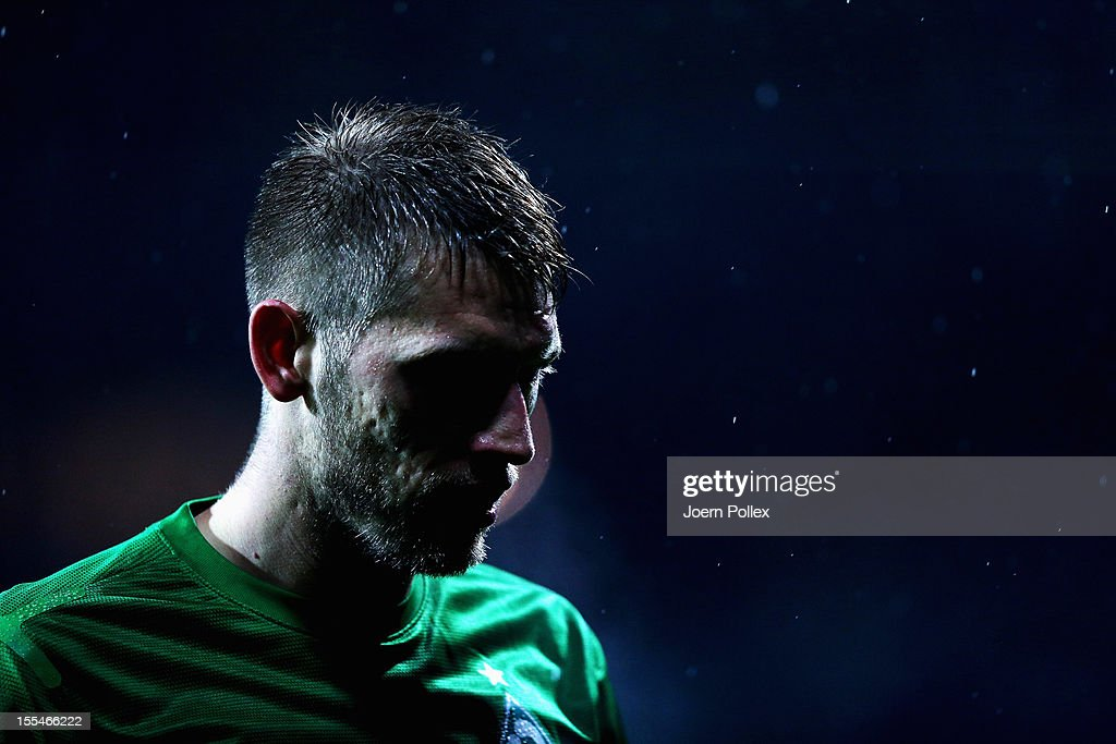 Aaron Hunt of Bremen is seen during the Bundesliga match between SV Werder Bremen and 1. FSV Mainz 05 at Weser Stadium on November 4, 2012 in Bremen, Germany.