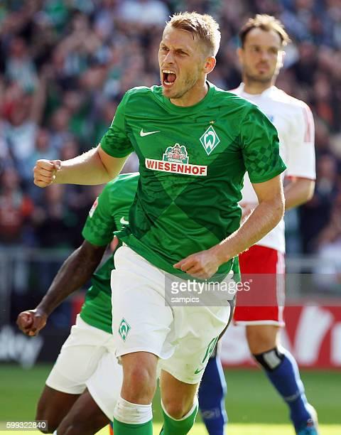Aaron Hunt Torschütze per Elfmeter zum 10 Fussball Bundesliga SV Werder Bremen Hamburger SV 20 192012 Weserstadion