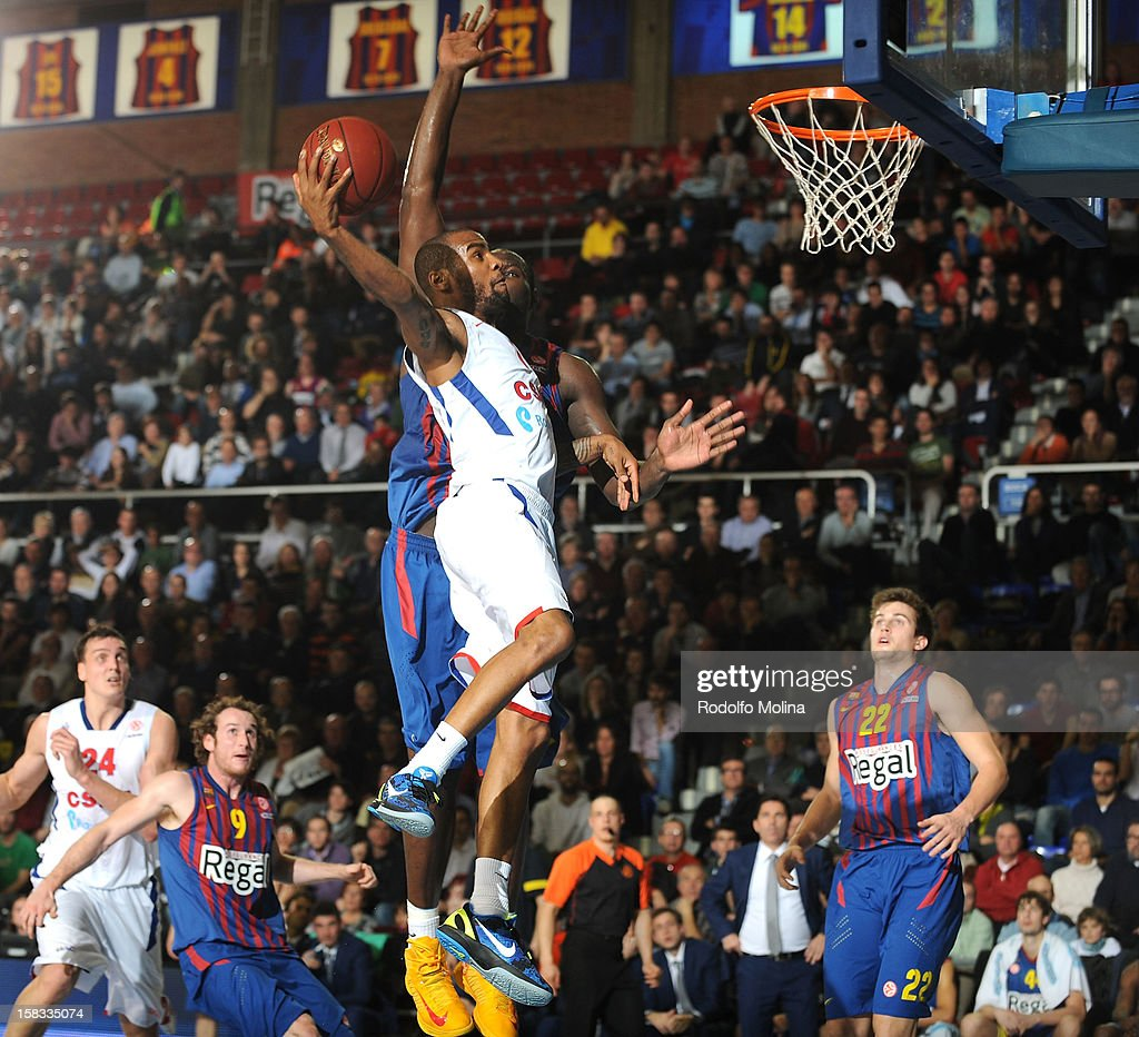 Aaron Jackson, #7 of CSKA Moscow in action during the 2012-2013 Turkish Airlines Euroleague Regular Season Game Day 10 between FC Barcelona Regal v CSKA Moscow at Palau Blaugrana on December 13, 2012 in Barcelona, Spain.