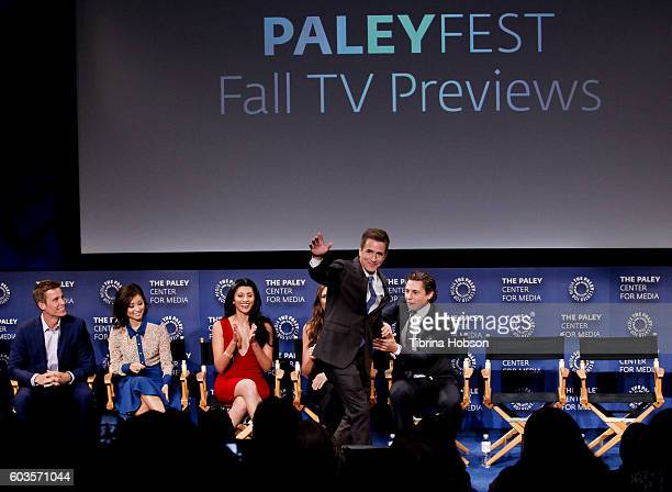 Aaron Jennings Ward Horton Brenda Song Reshma Shetty Dermot Mulroney and Augustus Prew attend The Paley Center for Media's PaleyFest 2016 fall TV...