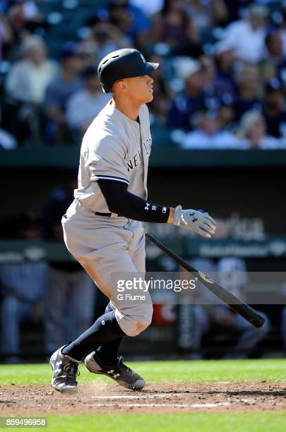 Aaron Judge of the New York Yankees bats against the Baltimore Orioles at Oriole Park at Camden Yards on September 7 2017 in Baltimore Maryland