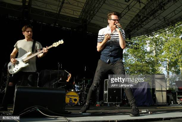 Aaron Kelly and Nick Anderson of The Wrecks perform in concert New York New York at Central Park SummerStage on July 31 2017 in New York City