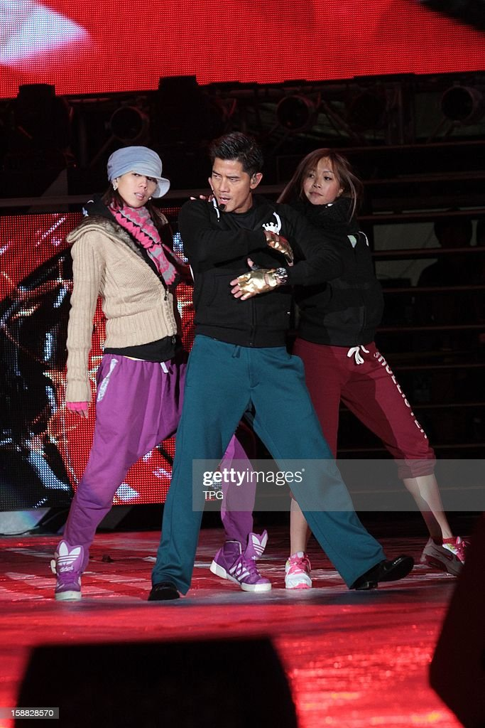 Aaron Kwok rehearsed for New Year performance on Sunday December 30, 2012 in Taipei, Taiwan, China.