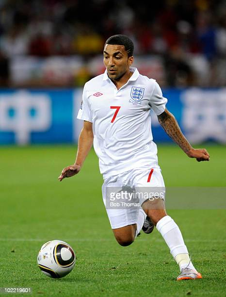 Aaron Lennon of England during the 2010 FIFA World Cup South Africa Group C match between England and Algeria at Green Point Stadium on June 18 2010...