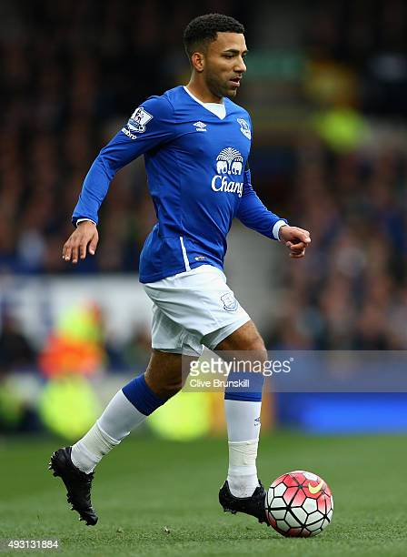 Aaron Lennon of Everton in action during the Barclays Premier League match between Everton and Manchester United at Goodison Park on October 17 2015...