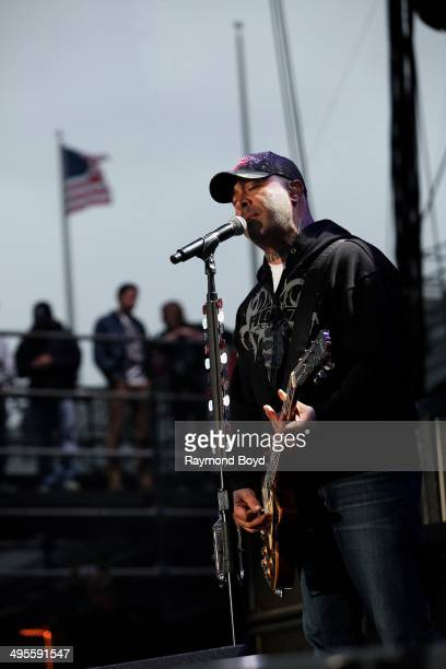 Aaron Lewis from Staind performs at Columbus Crew Stadium on May 16 2014 in Columbus Ohio