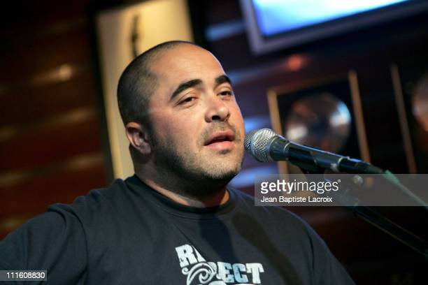 Aaron Lewis of Staind during Staind Performs Acoustic Set to Benefit Daily Bread Food Bank at Seminole Hard Rock Cafe in Hollywood Florida United...