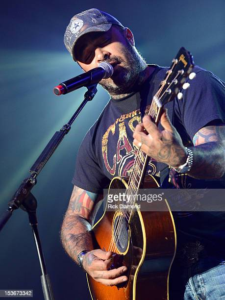 Aaron Lewis performs during the CAA Party at IEBA Conference Day 2 at the War Memorial Audorium on October 8 2012 in Nashville Tennessee