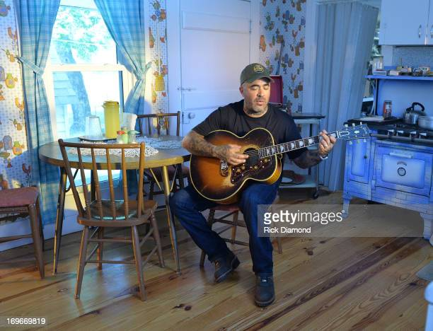 Aaron Lewis performs during the taping of Aaron Lewis' Video Shoot For The New Single 'Granddaddy's Gun' from his CD 'The Road' Video shoot on May 29...