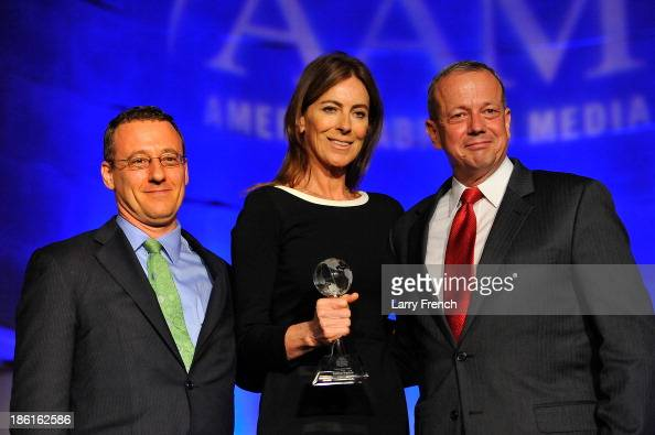 Aaron Lobel Kathryn Bigelow and General John Allen attend the 2013 America Abroad Media Awards Dinner at Andrew W Mellon Auditorium on October 28...