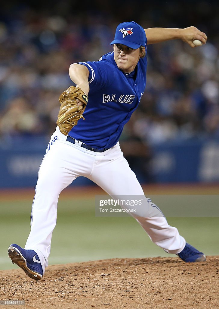 Aaron Loup #62 of the Toronto Blue Jays delivers a pitch during MLB game action against the Boston Red Sox on April 6, 2013 at Rogers Centre in Toronto, Ontario, Canada.