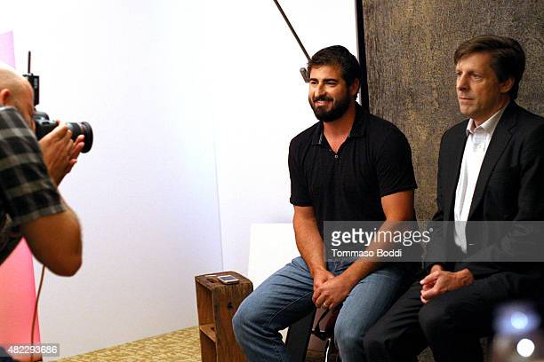 Aaron Mandell and Brian Kennedy of National Geographic Channels' 'Breakthrough' attend the Getty Images Portrait Studio powered by Samsung Galaxy at...