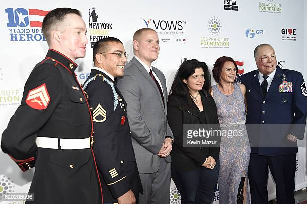 Aaron Mankin Michael Kacer Spencer Stone Alex Guarnaschelli Sarah Rudder Israel Del Toro attend as The New York Comedy Festival and The Bob Woodruff...