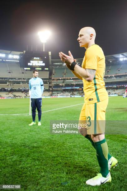 Aaron Mooy departs the field after Brazil beat Australia in the Chevrolet Brasil Global Tour 2017 on June 13 2017 in Melbourne Australia Chris Putnam...
