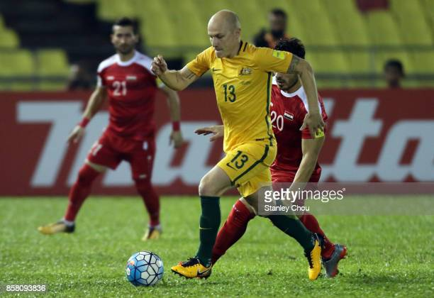 Aaron Mooy of Australia in action during the 2018 FIFA World Cup Asian Playoff match between Syria and the Australia Socceroos at Hang Jebat Stadium...