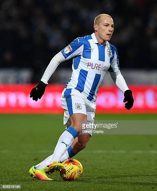 Aaron Mooy of Huddersfield during the Sky Bet Championship match between Huddersfield Town and Wigan Athletic at John Smith's Stadium on November 28...