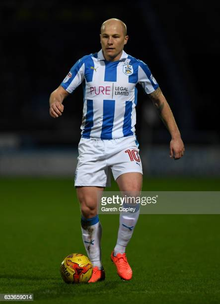 Aaron Mooy of Huddersfield during the Sky Bet Championship match between Huddersfield Town and Brighton Hove Albion at Galpharm Stadium on February 2...