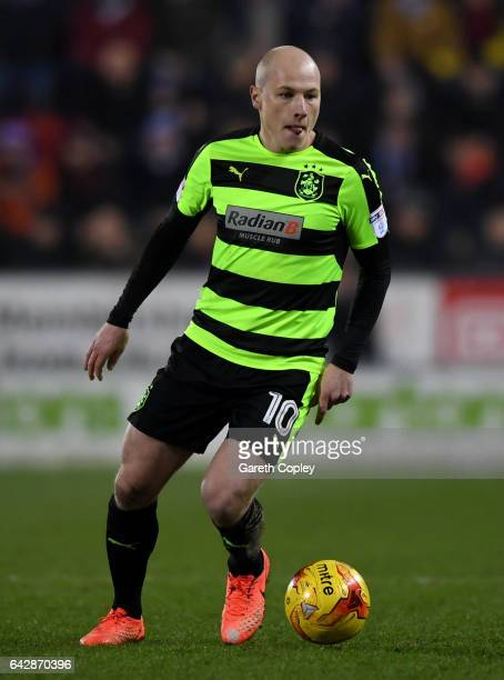 Aaron Mooy of Huddersfield during the Sky Bet Championship match between Rotherham United and Huddersfield Town at The New York Stadium on February...
