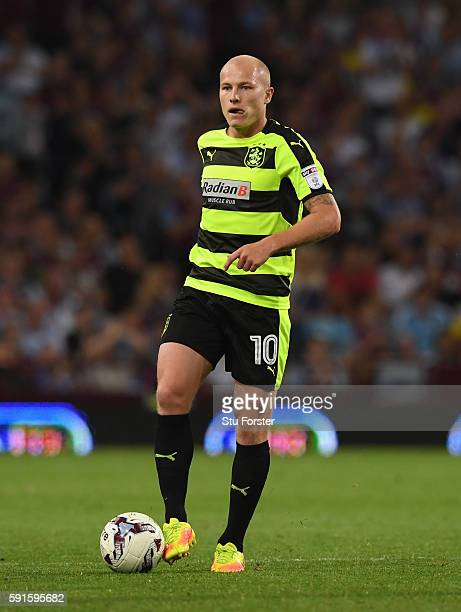 Aaron Mooy of Huddersfield in action during the Sky Bet Championship match between Aston Villa and Huddersfield Town at Villa Park on August 16 2016...
