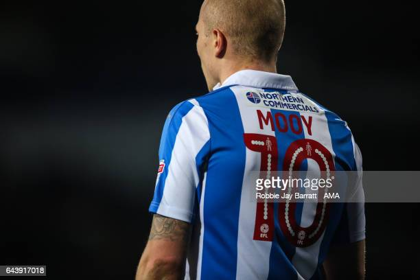 Aaron Mooy of Huddersfield Town during the Sky Bet Championship match between Huddersfield Town and Reading at The John Smiths Stadium on February 21...