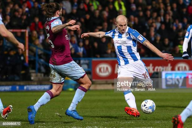 Aaron Mooy of Huddersfield Town during the Sky Bet Championship match between Huddersfield Town and Aston Villa at John Smith's Stadium on March 7...