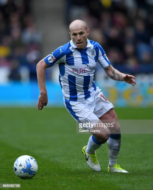 Aaron Mooy of Huddersfield Town during the Sky Bet Championship match between Huddersfield Town and Preston North End at Galpharm Stadium on April 14...