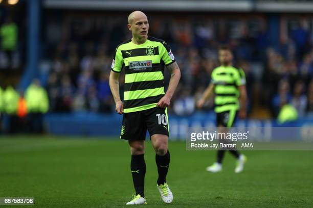 Aaron Mooy of Huddersfield Town during the Sky Bet Championship match between Sheffield Wednesday and Huddersfield Town at Hillsborough Stadium on...