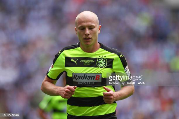Aaron Mooy of Huddersfield Town during the Sky Bet Championship Play Off Final match between Reading and Huddersfield Town at Wembley Stadium on May...