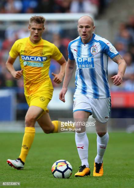 Aaron Mooy of Huddersfield Town in action during the pre season friendly match between Huddersfield Town and Udinese at Galpharm Stadium on July 26...