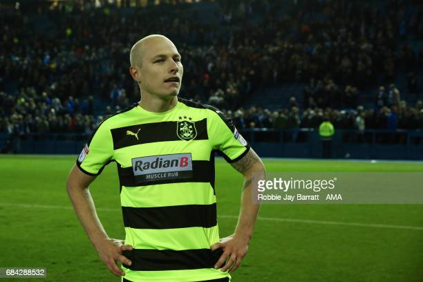 Aaron Mooy of Huddersfield Town reacts at full time during the Sky Bet Championship match between Sheffield Wednesday and Huddersfield Town at...
