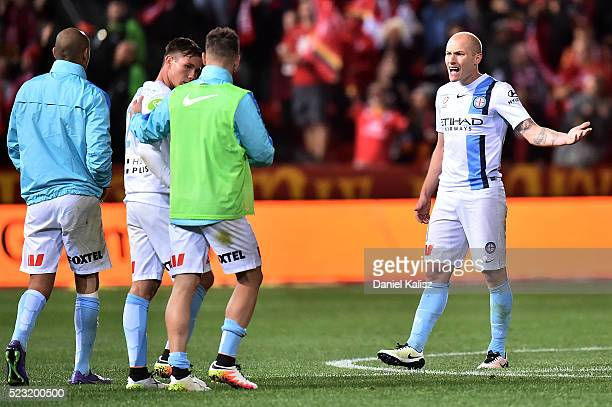 Aaron Mooy of Melbourne City looks dejected after the ALeague Semi Final match between Adelaide United and Melbourne City at Coopers Stadium on April...