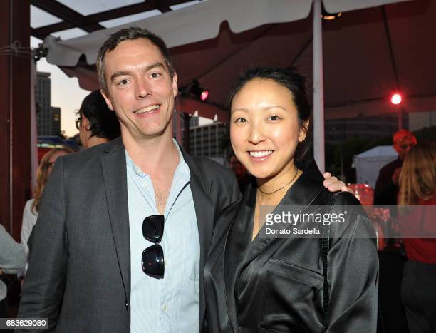 Aaron Moulton and guest attend MOCA's Leadership Circle and Members' Opening of 'Carl Andre Sculpture as Place 19582010' and 'Arthur Jafa Love Is The...
