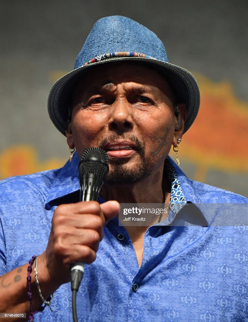 Aaron Neville performs onstage during day 1 of the 2017 New Orleans Jazz & Heritage Festival at Fair Grounds Race Course on April 28, 2017 in New Orleans, Louisiana.