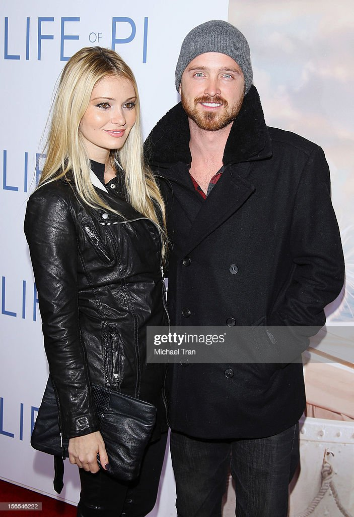 Aaron Paul and Lauren Parsekian arrive at the Los Angeles special screening of 'Life Of Pi' held at Zanuck Theater at 20th Century Fox Lot on...