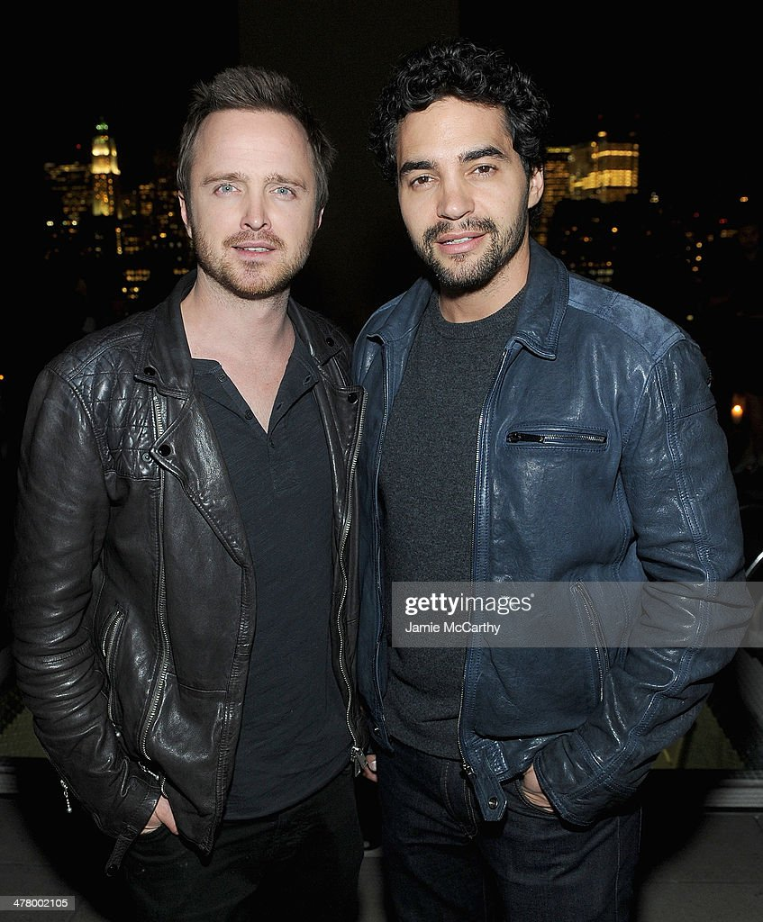 <a gi-track='captionPersonalityLinkClicked' href=/galleries/search?phrase=Aaron+Paul+-+Actor&family=editorial&specificpeople=693211 ng-click='$event.stopPropagation()'>Aaron Paul</a> and <a gi-track='captionPersonalityLinkClicked' href=/galleries/search?phrase=Ramon+Rodriguez&family=editorial&specificpeople=73608 ng-click='$event.stopPropagation()'>Ramon Rodriguez</a> attend DreamWorks Picture' 'Need For Speed' screening hosted by The Cinema Society and Bushmill's after party at Jimmy At The James Hotel on March 11, 2014 in New York City.