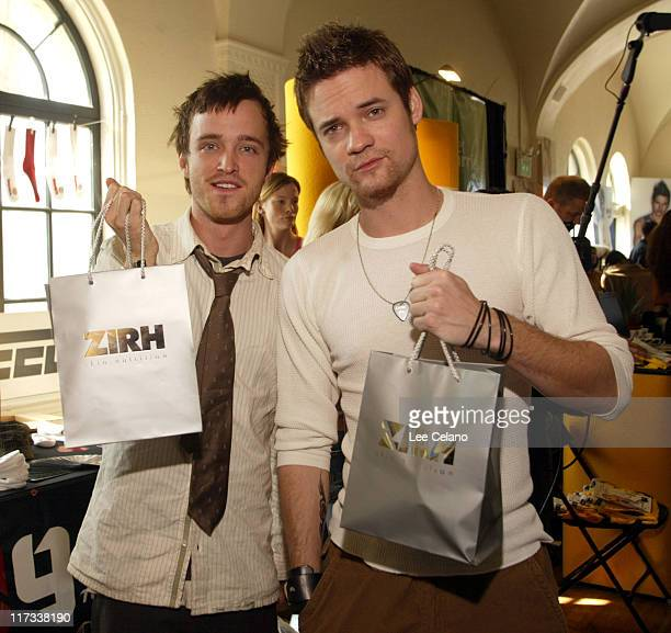 Aaron Paul and Shane West at Zirh during Silver Spoon PreOscar Hollywood Buffet Day One at Private Residence in Los Angeles California United States...