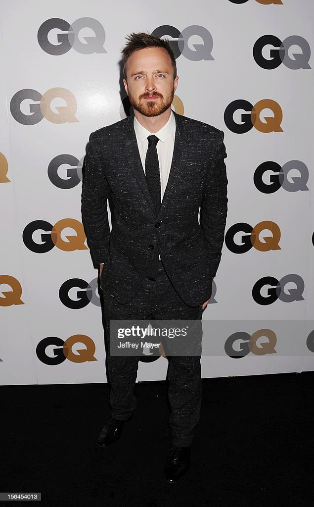 Aaron Paul arrives at the GQ Men Of The Year Party at Chateau Marmont Hotel on November 13, 2012 in Los Angeles, California.