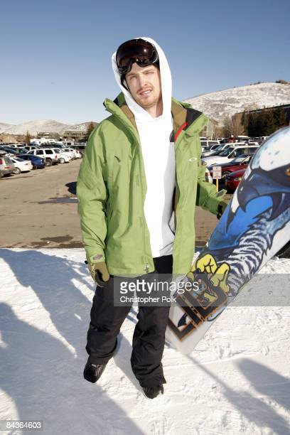 Aaron Paul at Oakley's 'Learn to Ride' at Park City Mountain Resort in Park City Utah on January 19 2009
